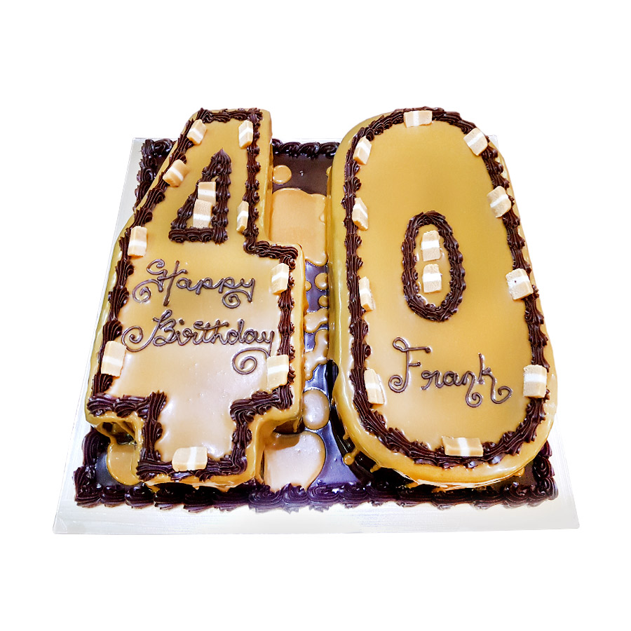 40 Digit Cake Just Cakes