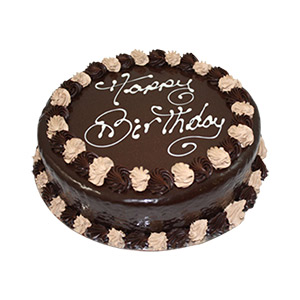 Caramel Mud Round Happy Birthday Cake | Just Cakes