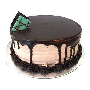 Images Of Round Birthday Cake : Caramel Mud Round Happy Birthday Cake Just Cakes