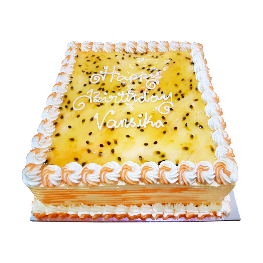 Mango Amp Passion Fruit Square Cake Just Cakes