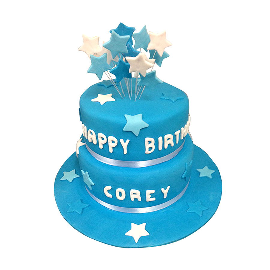 Order Blue Valvet Birthday Cake In