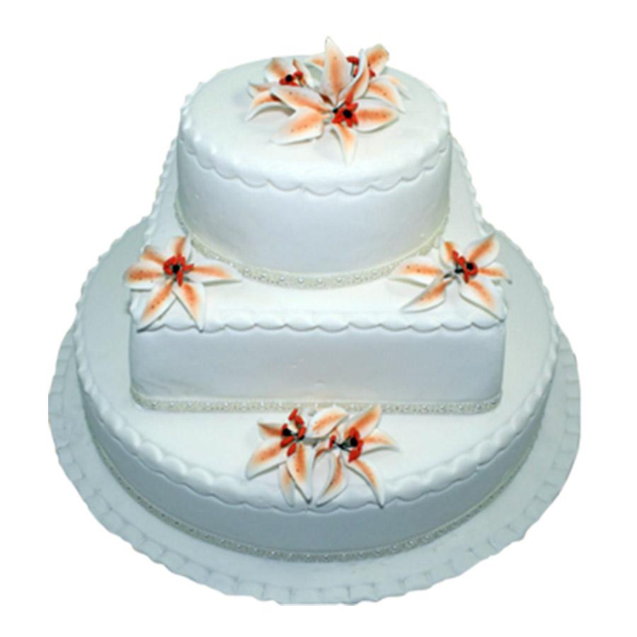 3 Tier Wedding Cake | Just Cakes